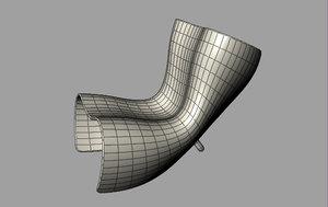 felt chair 3d 3ds