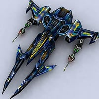 space sci-fi spaceship fighter 3d model
