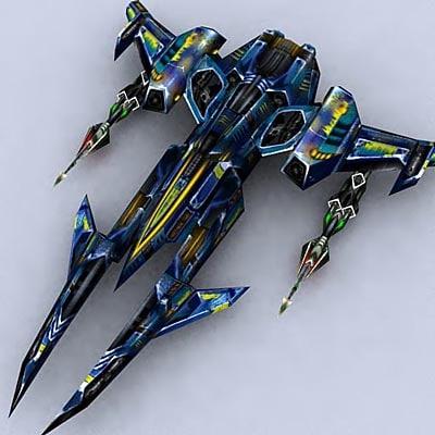 space sci-fi spaceship fighter 3d model