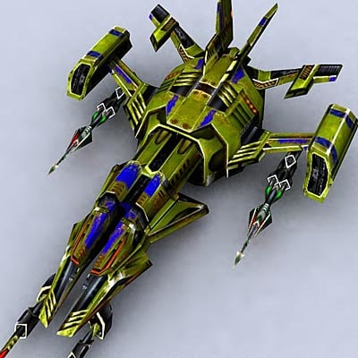 3ds sci-fi space fighter