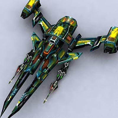 3d model sci-fi space fighter