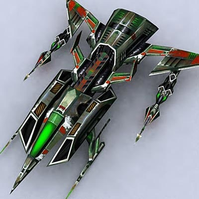 sci-fi space fighter 3d model