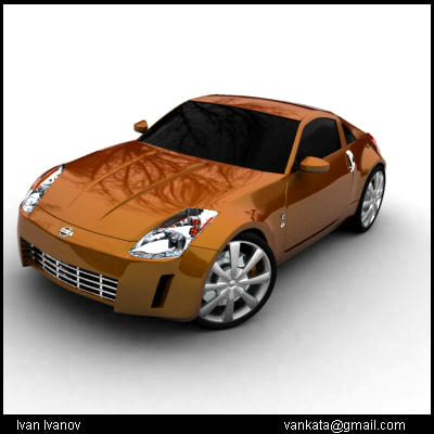 nissan 350z car wheels 3d model