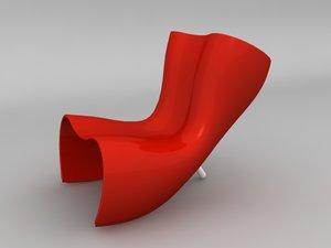 felt chair 3d model