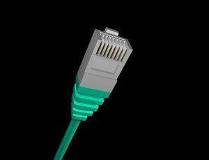 rj45 cable 3d model