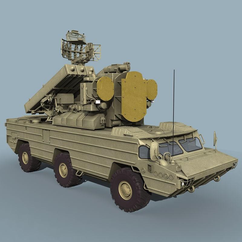 soviet sa-8 gecko 3d model