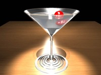 free martini glass 3d model