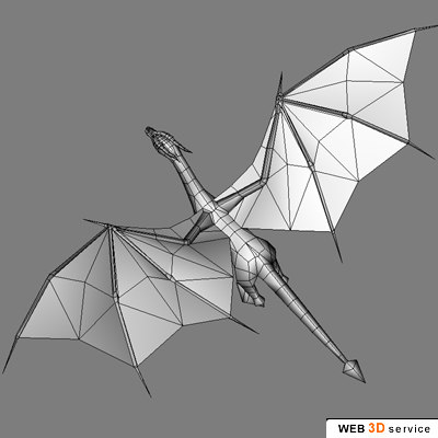 accurate dragon 1600 3d model