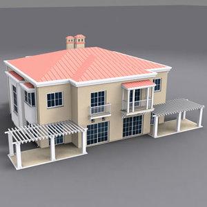 exterior building house 3d model