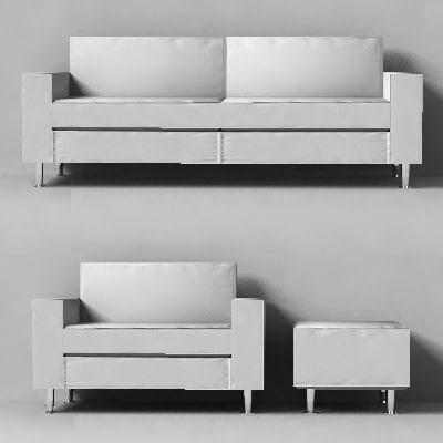 designer sofa armchair 3ds
