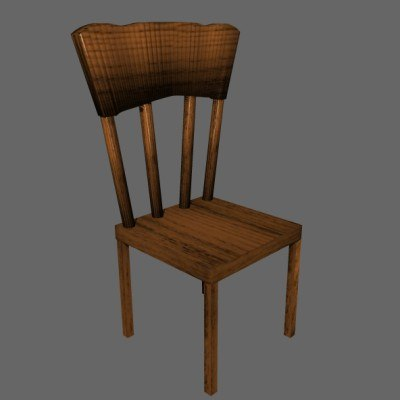 dining chair 3d obj