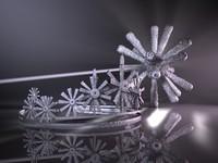 tiara scepter glittering 3d model