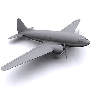c-46 plane 3d model