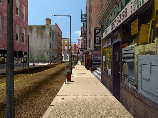 max city scene