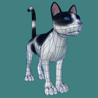 cat feline 3d model