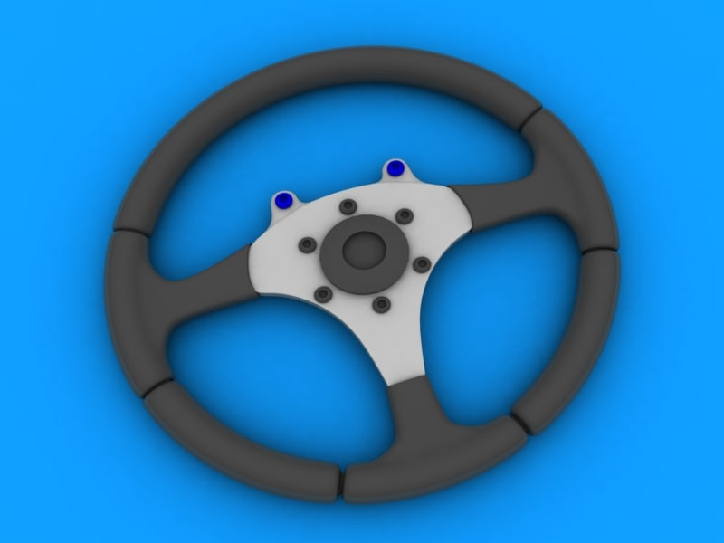 3d sports type steering wheel model