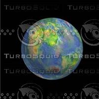 3d globe planets jupiter