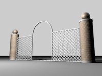 lattice brick 3d model