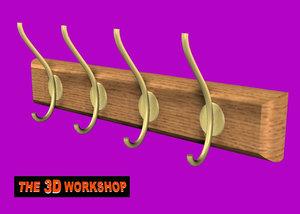 coat hooks 3d model