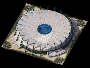 3d sun dome stadium hockey model