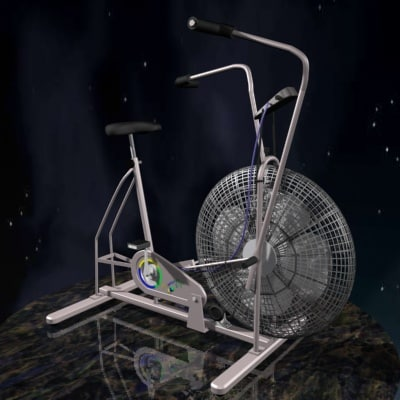 3d model exercise bike
