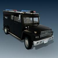 swat truck 3d max