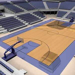 3d basket ball arena model