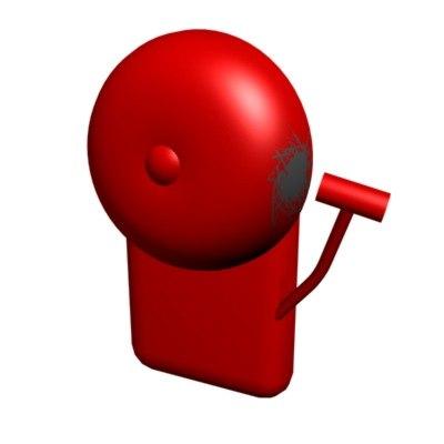 3d school bell model