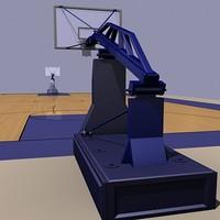 basket ball court 3d model