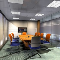 3d model conference room interior