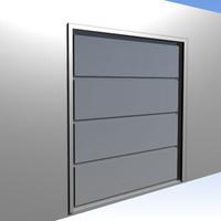 3d garage gates model