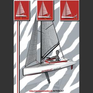 free sail boat 3d model