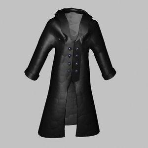 maya leather raincoat