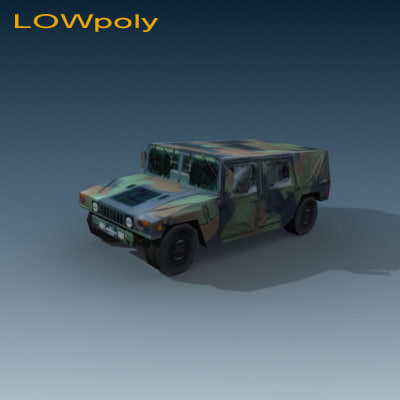 3d hummer jeep humvee