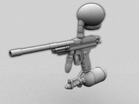 3d x paintballers model