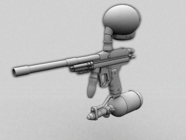 3d x paintballers model