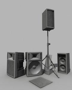 pa speakers 3d model
