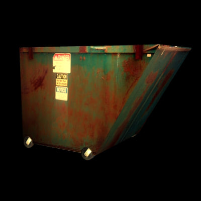 3d model garbage dump dumpster