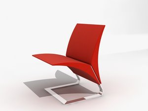 3d model chair designed niemeyer