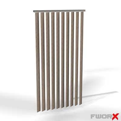 free window curtains 3d model