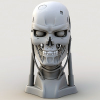 T-801 Head (mesh only)