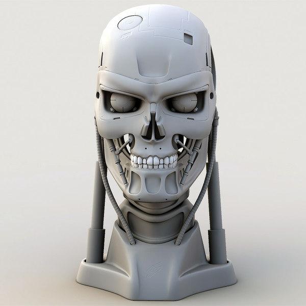 head cyborg mesh 3d model