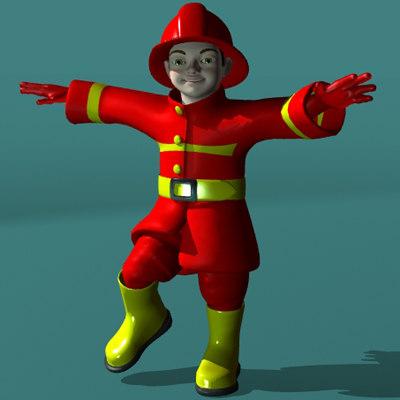 firekid kid 3d model