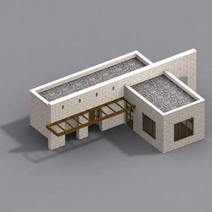 multi service building house 3d model
