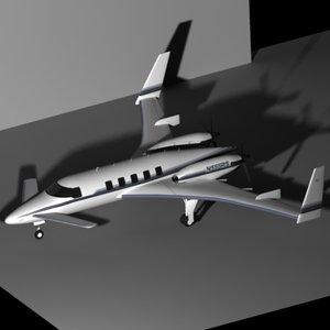 beechcraft starship 3d model