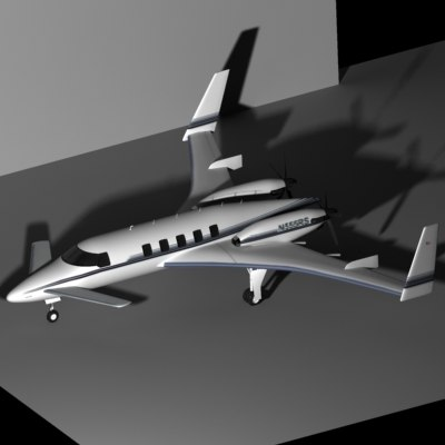 beechcraft starship 3d model