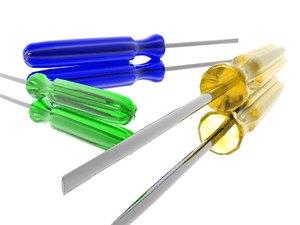 3d model screwdriver screw
