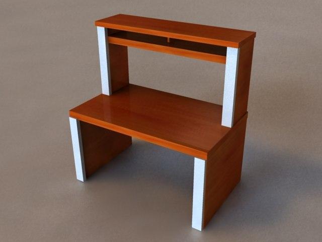 great computer desk 3d model