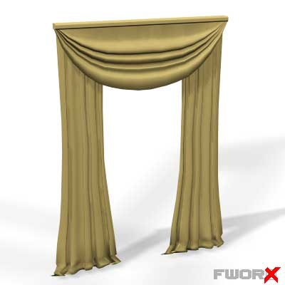 3ds max window curtains