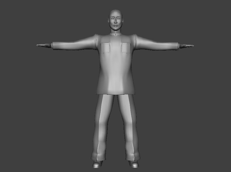 resolution asia male character 3d model